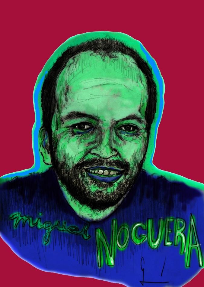 Miguel Noguera dibujado por Germán Piqueras