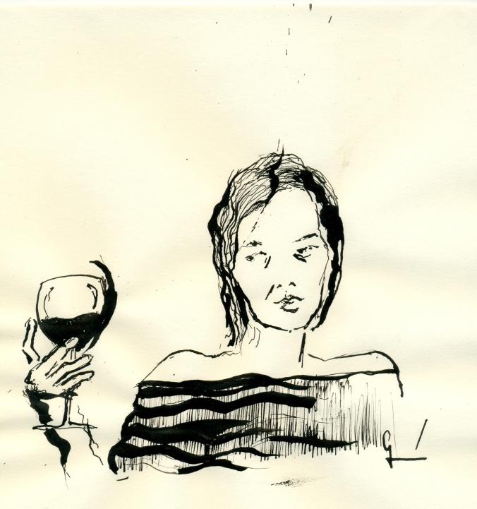 La chica del bajista Germán Piqueras ilustración