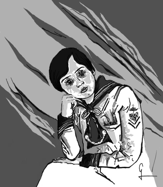 El niño de Somosierra por el artista hispano Germán Piqueras