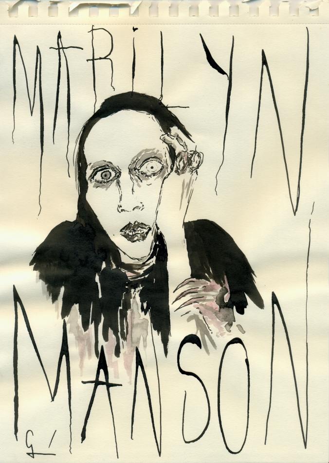 Marilyn Manson por Germán Piqueras