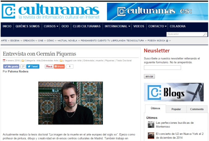 Captura web Culturamas