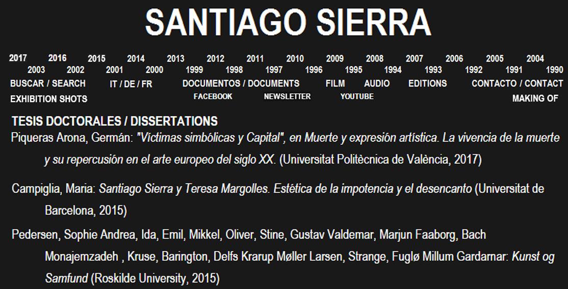 Referencia web Santiago Sierra